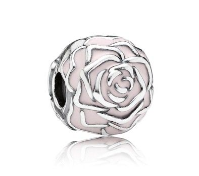 Pandora Pink Rose Clip Charm 791292EN40 at John Greed Jewellery