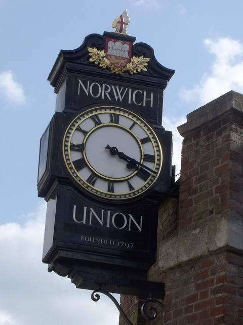 Norwich Union founded 1797 - Surrey Street, Norwich - clock