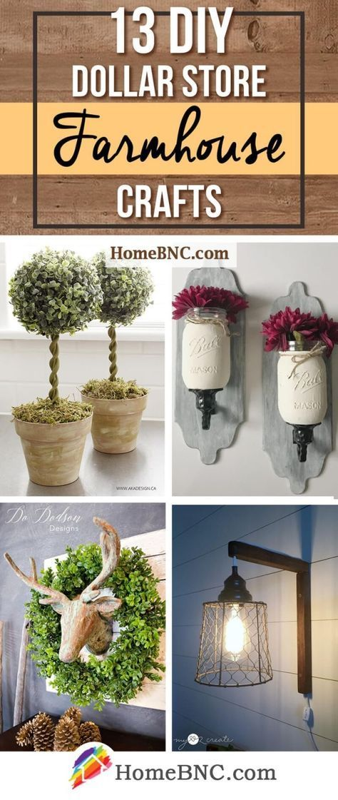DIY Dollar Store Farmhouse Decor Ideas by willa – …