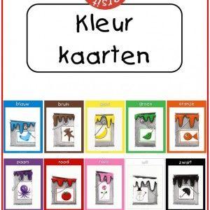 Ruth Wielockx tekende deze prachtige set met 33 kleurkaarten. Er zijn tien kleuren verfpotten paginagroot afgebeeld in een gekleurd kader. D...
