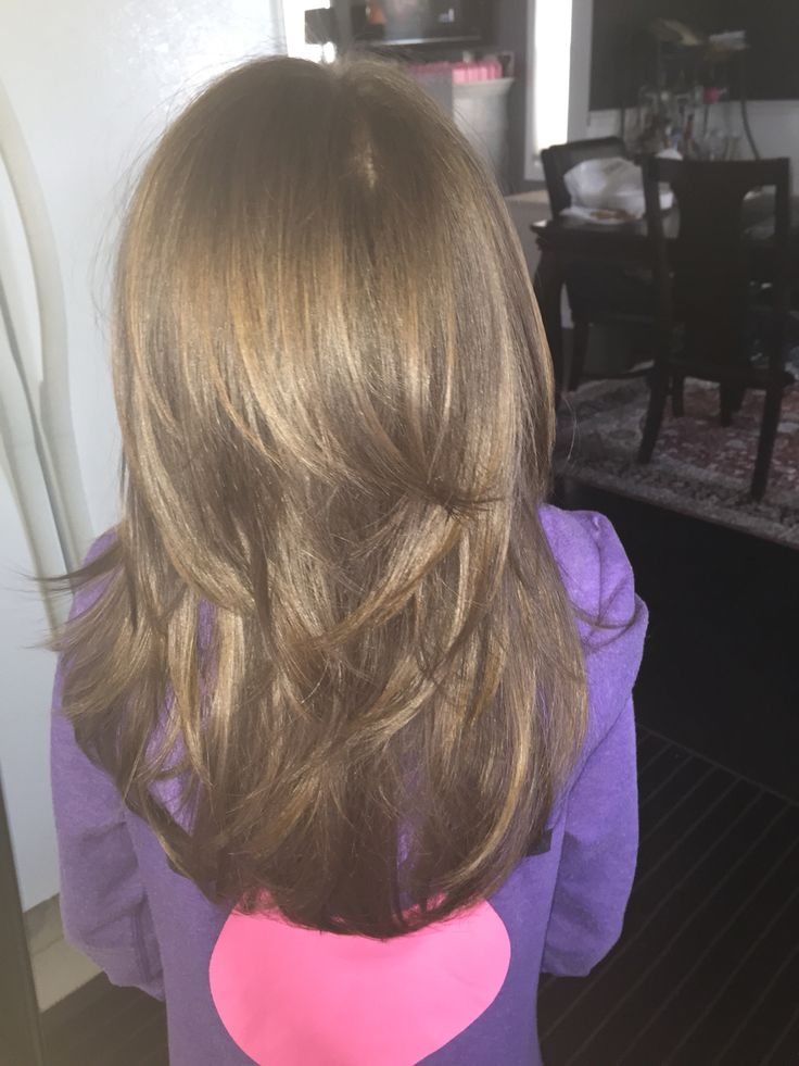 Wonderful Girls Hair  Medium Length With Soft Layers