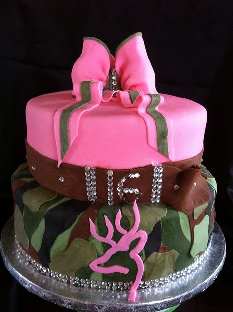 Browning Sweet 16 cake by Lily