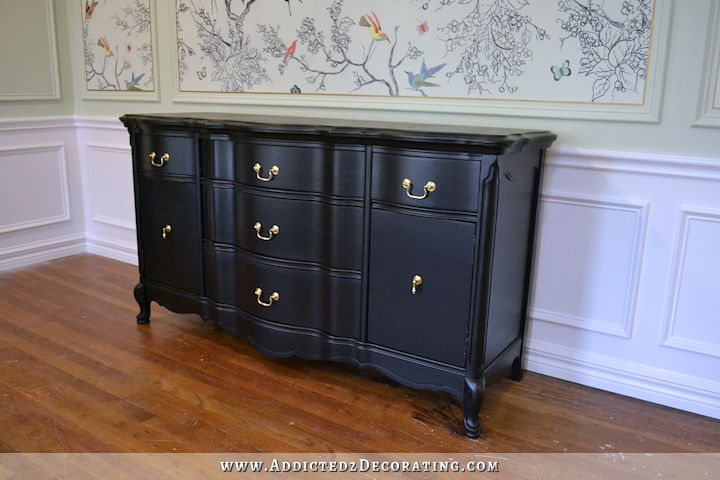 black buffet makeover - 3