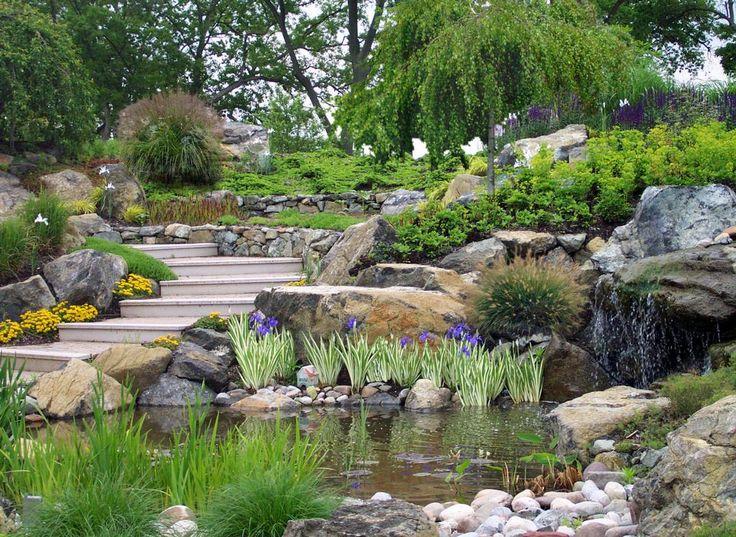 39 best Stone Waterfalls images on Pinterest   Backyard ideas ...