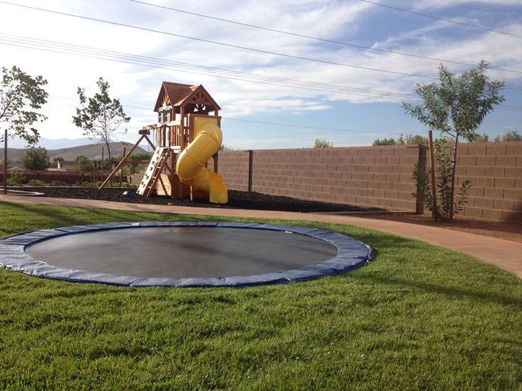 In-Ground Trampoline Tutorial: My grandparents had a big one when I was little, and I loved it.