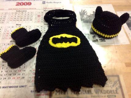 crochet baby photo props free patterns batman and robin - Google Search