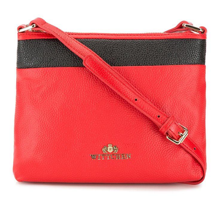 Torebka damska 82-4E-438-3 czerwono-czarna skóra licowa - sklep internetowy WITTCHEN 2016