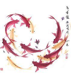koi fish painting watercolor - Google Search