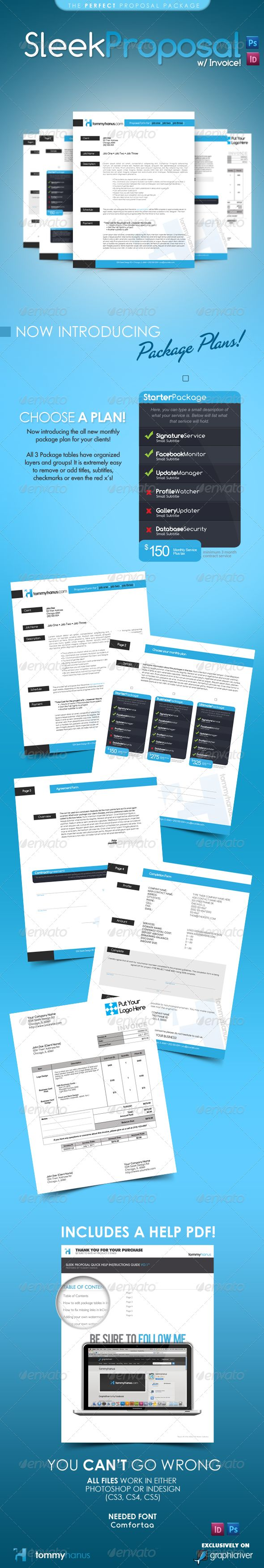 Sleek Proposal Template PSD, InDesign INDD. Download here: http://graphicriver.net/item/sleek-proposal-professional-proposal-template/308637?s_rank=1216&ref=yinkira