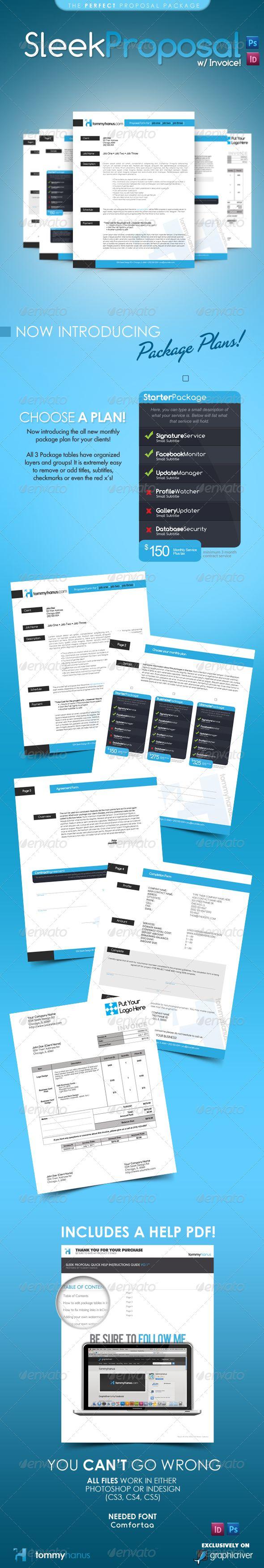 Sleek Proposal Template PSD, InDesign INDD. Download here: http://graphicriver.net/item/sleek-proposal-professional-proposal-template/308637?s_rank=1216&ref=yinkira