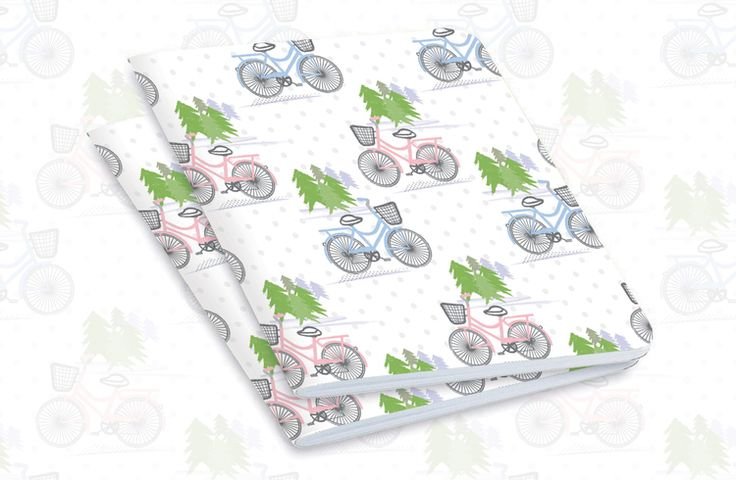 Bicycle patterned notebooks by Louise Brigenshaw