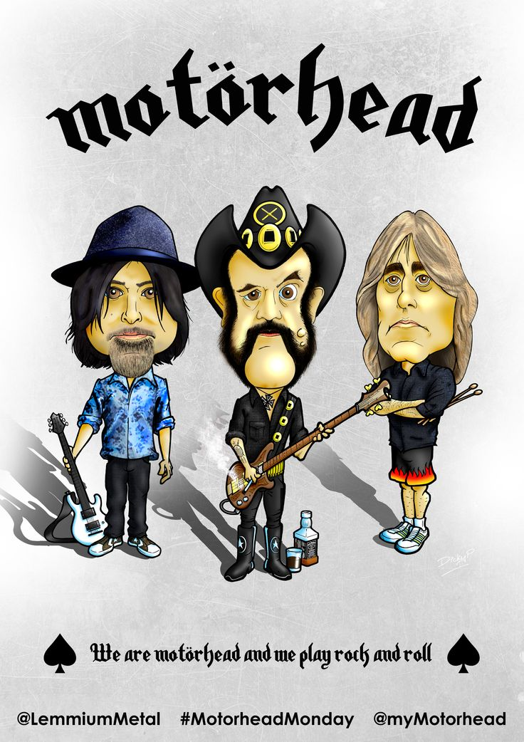 Cartoon to celebrate #MotorheadMonday for @LemmiumMetal # ...