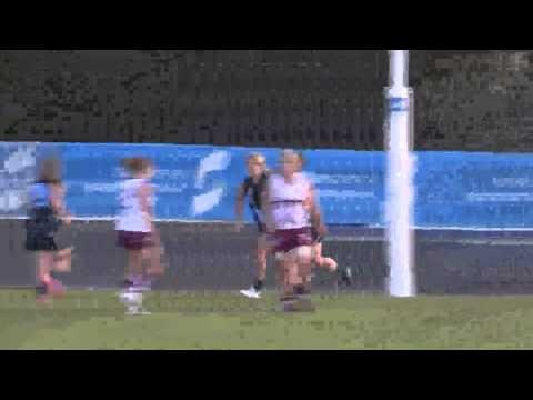 2013 AFL Youth Girls National Champs - Day 1  Vic Metro defeats Queensland whilst Vic Country overcomes NSW/ACT.  #changethegame