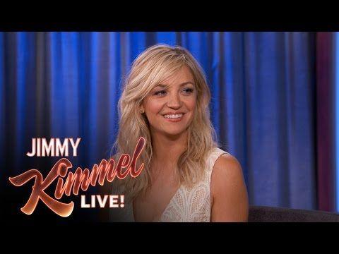 Jimmy Kimmel Live: Abby Elliott Talks About Chris Elliott
