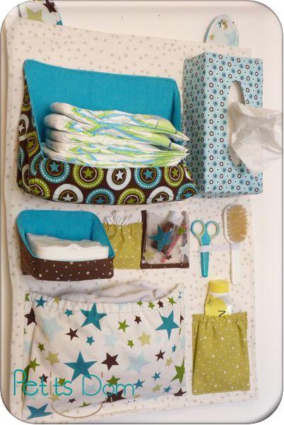 À vos machines à coudre! Un joli DIY rangement pour votre salle de bain, tout en tissu.