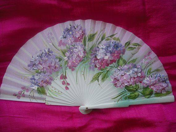 Hand Painted Fans From Spain | hand painted spanish fan FREE SHIPPING