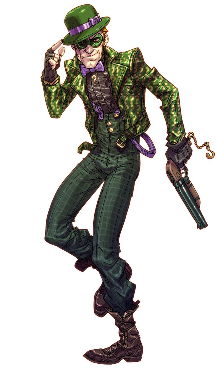 Riddler concept art for Arkham City
