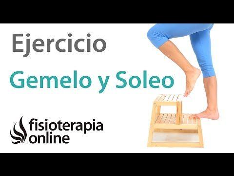 Ejercicio de potenciación excéntrica de gemelo y soleo.   Fisioterapia Online