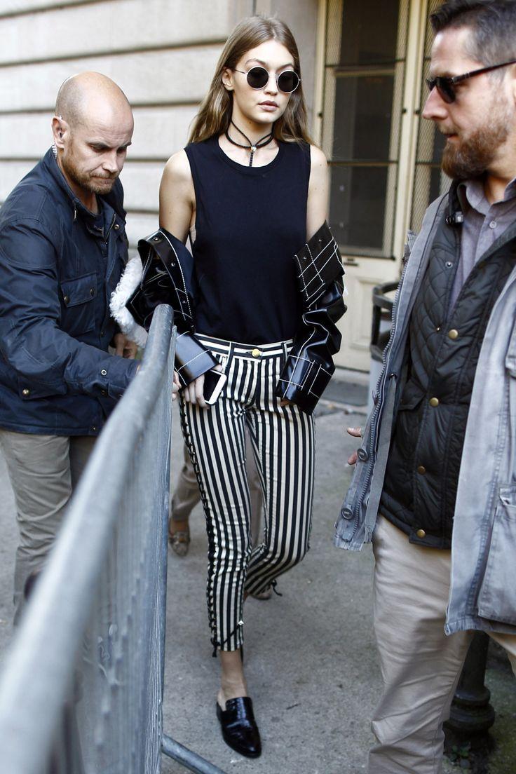 Gigi Hadid    leaving Giambattista Valli S/S 2017, Paris Fashion Week (October 3, 2016)