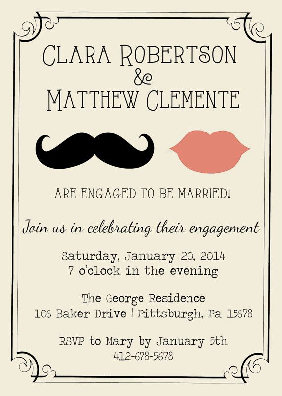 8 best *~*Engagement Party Invite Ideas*~* images on Pinterest - engagement invitation cards templates