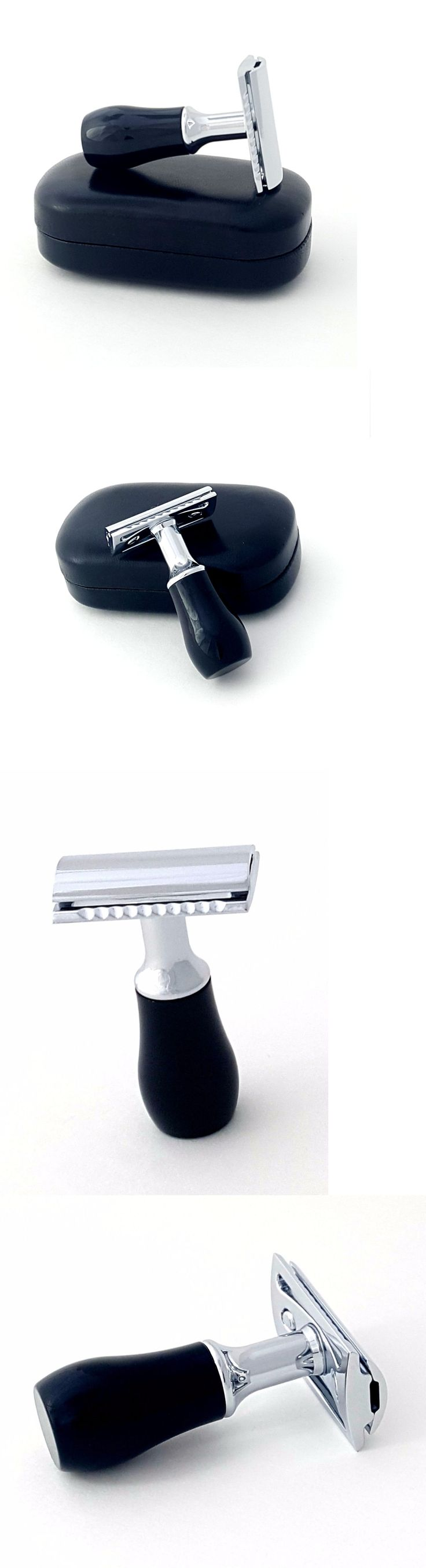 Mens Razors: Travel Mini Shaving Safety Razor Black Handle With Hard Carrying Case And Blade -> BUY IT NOW ONLY: $49.99 on eBay!