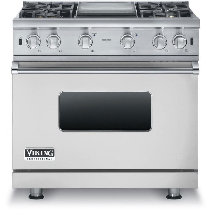 Viking Professional 5 Series VGCC5364GSS 36 In. 5.1 cu. ft. Freestanding Gas Range with Sealed Cooktop, Griddle in Stainless Steel