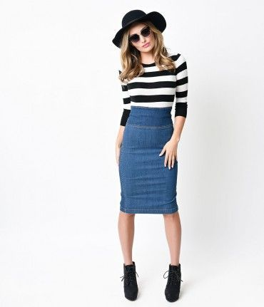 207 best jean skirts images on