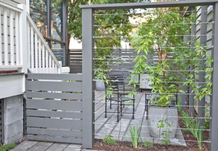 brise vue naturel pour jardin avec plantes