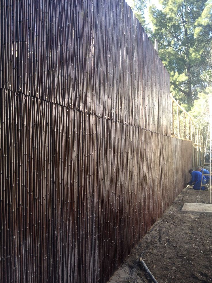 4m high bamboo fence done in Mahogany !!!