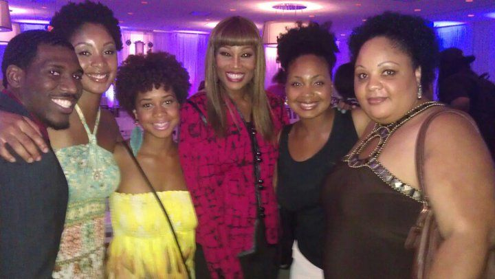 With the awesome Yolanda Adams after the fashion  show