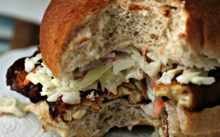 BBQ Tempeh and Coleslaw Sandwiches [Vegan] | One Green Planet