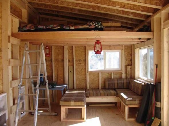 shed roof cabin with loft - Google Search