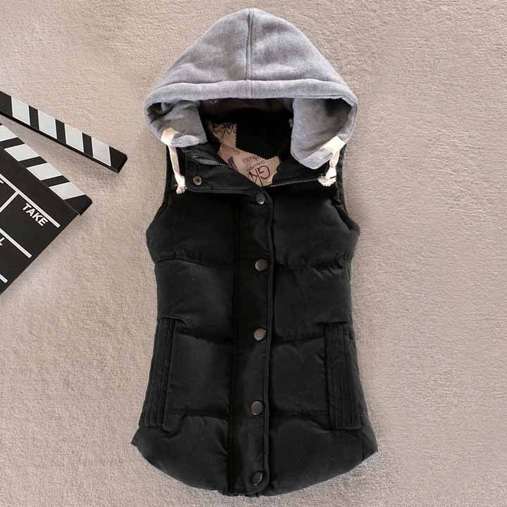 Women Puffer Vest with Hood