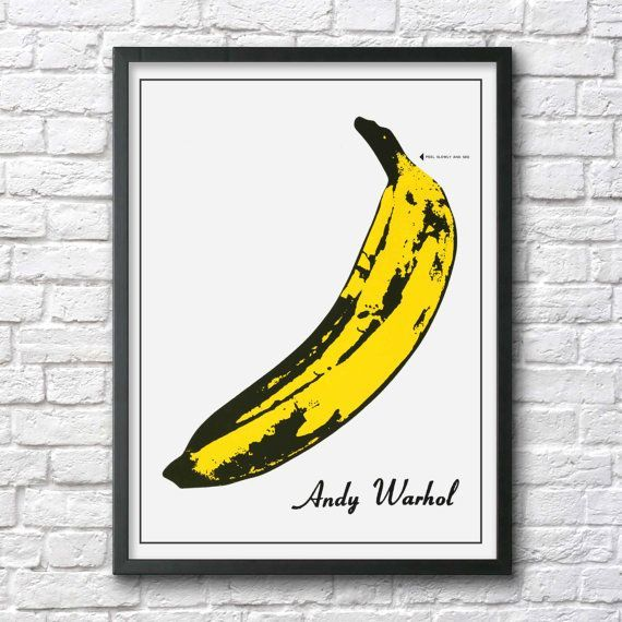 Andy Warhol poster Velvet underground by Antiquephotoarchive #CoolBananas