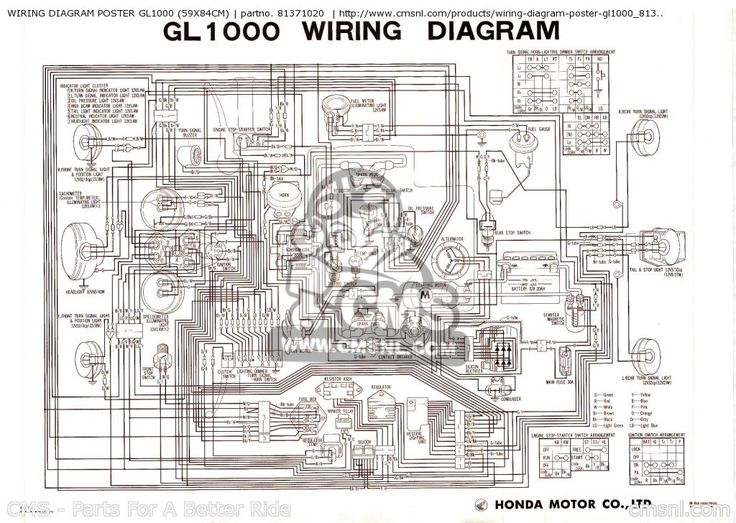 1976 goldwing 1000 wiring diagram on 320 best goldwings images on pinterest cafe racers, motorcycle St Wiring Diagram Honda XR250 Wiring-Diagram