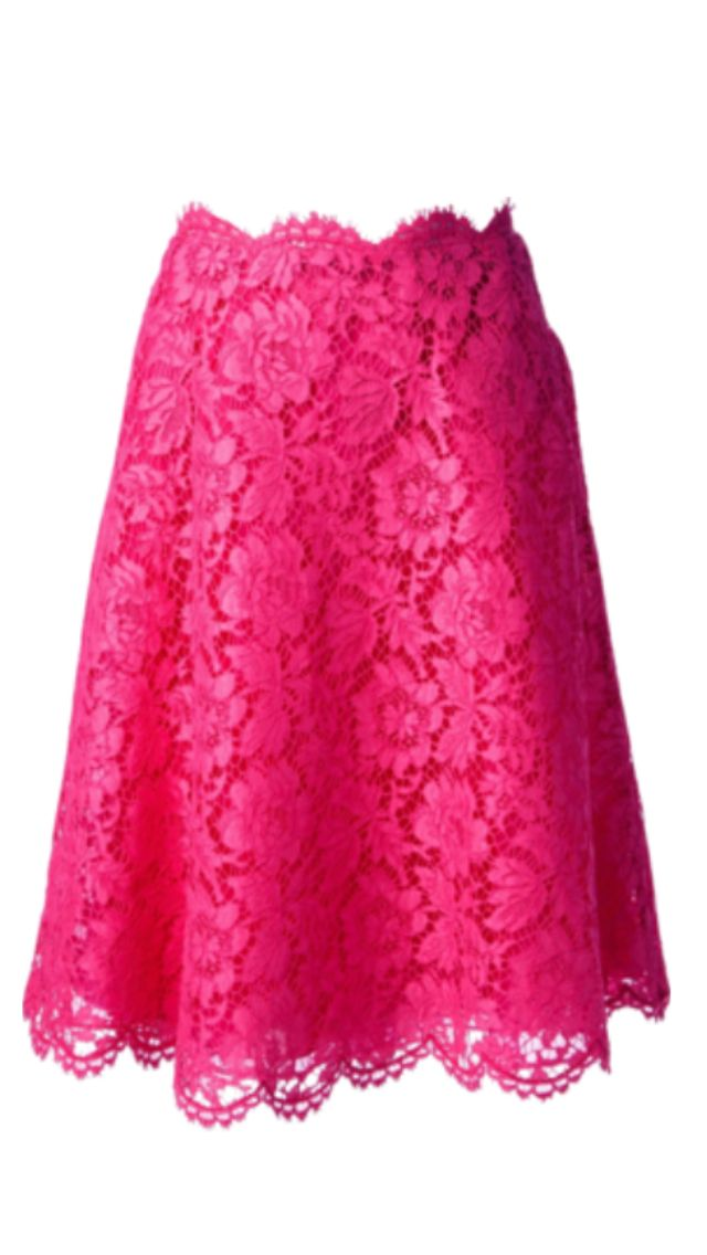 Pink Lace Skirt ❤ Pinned by Cindy Vermeulen. Please check out my other 'sexy' boards.