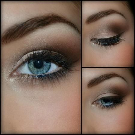 Another Elegant Look for Blue Eyes Chocolate - Brown Make Up.