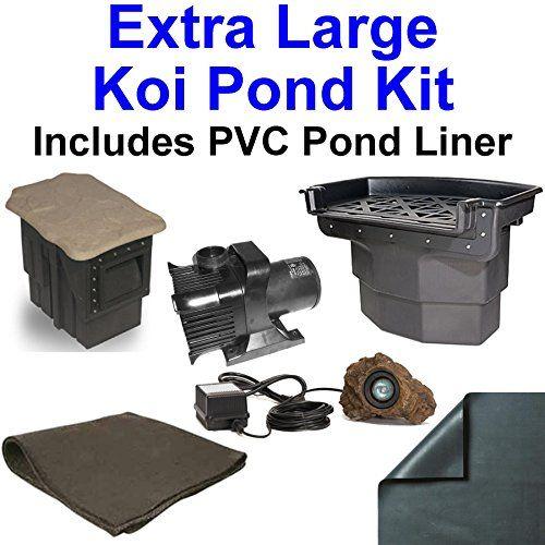 20-x-30-Extra-Large-PVC-Pond-Kit-Atlantic-Water-Gardens-BF2600-Filtering-Waterfall-PS1311-Skimmer-5200-GPH-Pump-PVC2030
