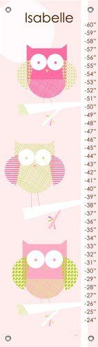Three Little Owls Personalized Growth Chart by Oopsy Daisy. $49.00. Three owls sit perfectly perched in a tree on this contemporary growth chart.