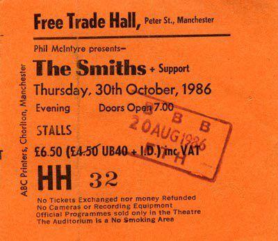 The Smiths ticket stub