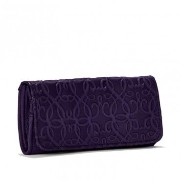 Leather Statement Clutch - On the Dock at Midnight by VIDA VIDA
