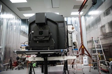 New Caltech Instrument Poised to Image the Cosmic Web Keck Cosmic Web Imager ships from Caltech to Keck Observatory