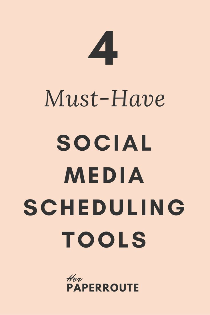 4 Must-Have Social Media Scheduling Tools // Her Paper Route << #entrepreneur #business