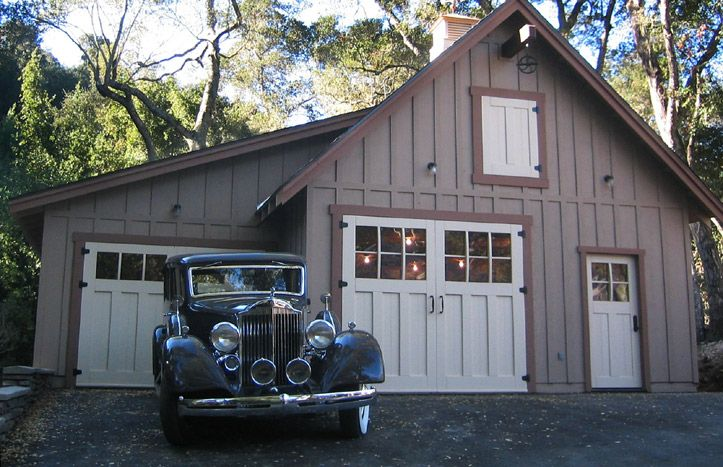 Retro garage old 1930s 40s vintage garage door plans for Detached garage with carport