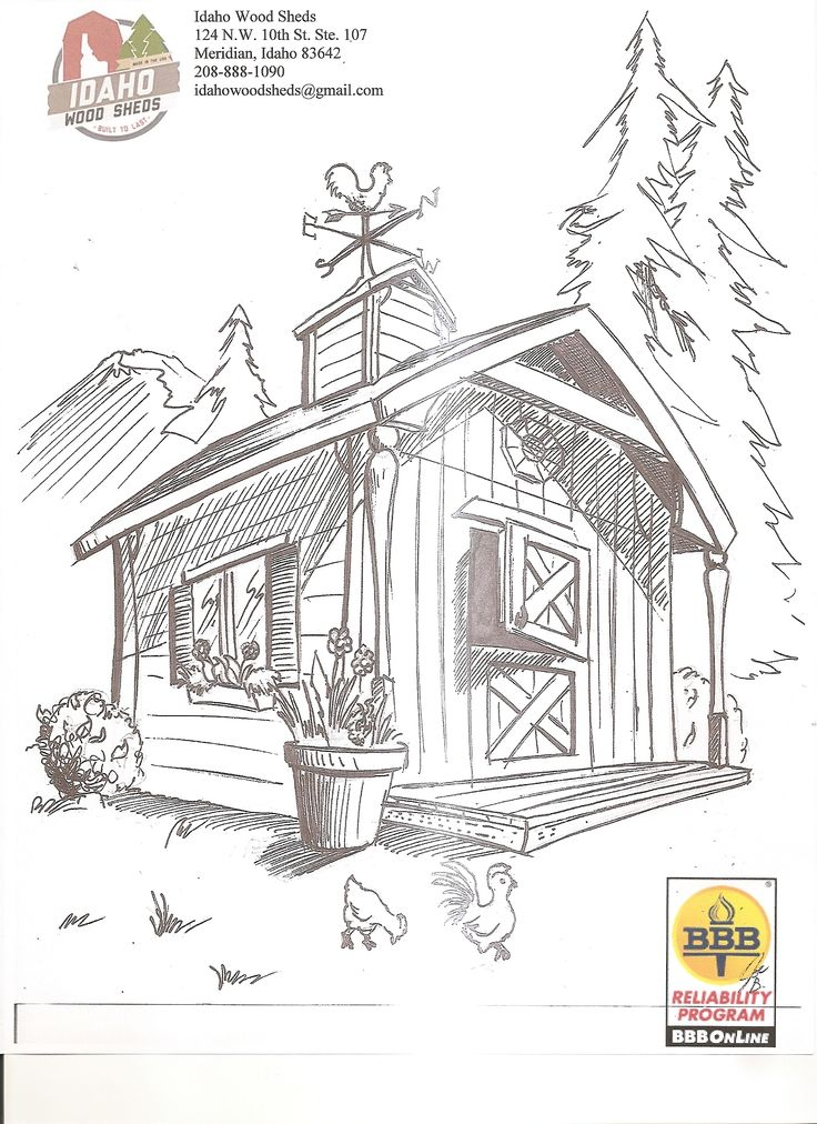 scenic coloring pages idaho wood sheds free printable color page - Coloring Pages For Paint Program