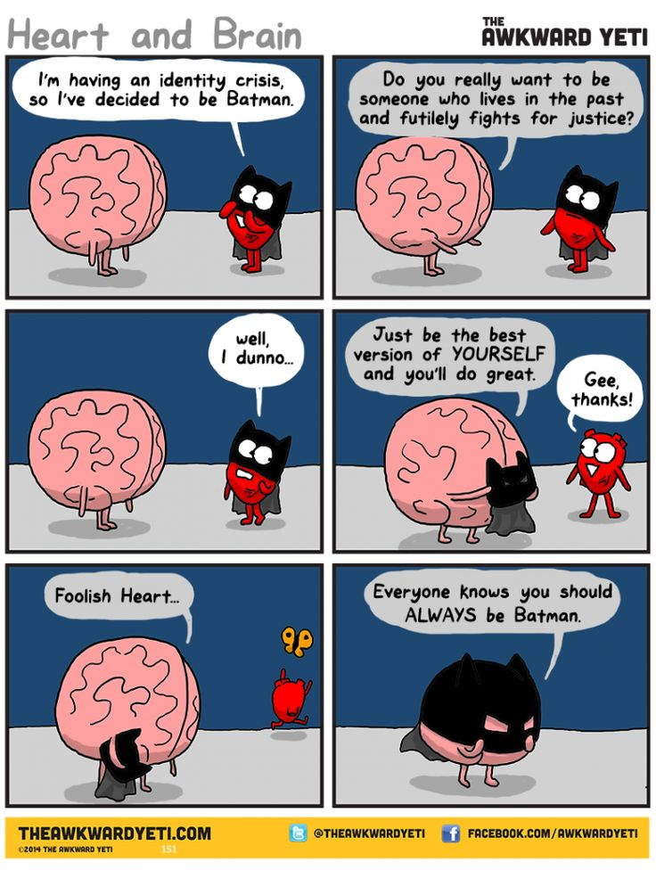 Heart has an identity crisis that we've all been through in this comic