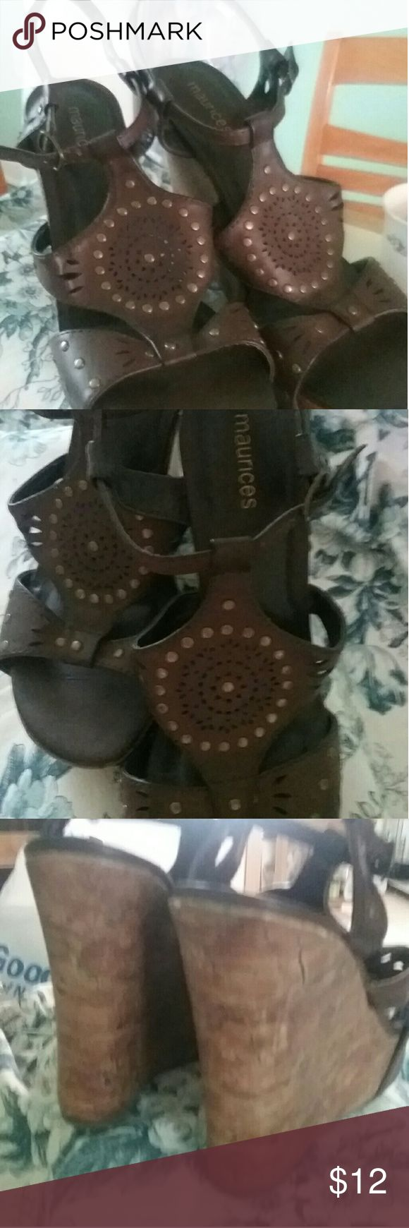 Maurice  shoes Comfy adorable platform shoes ankle strap with beautiful stud pattern .perfect for any outfit Maurices Shoes Platforms