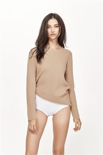 MARLE CAMILLA CREW NECK CAMEL  -view all -AREA 51