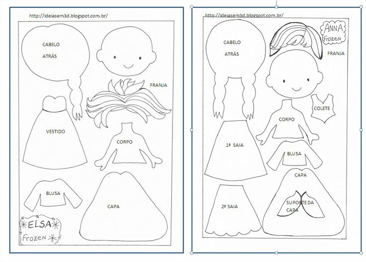 templates for anna and elsa frozen