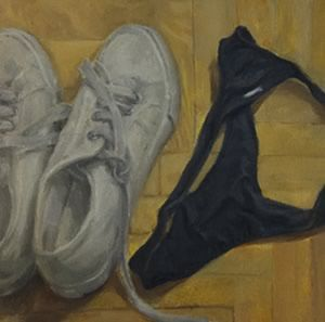 Ioana Iacob Iacob's canvases depict the absolutely everyday - washing set out to dry; a make-up bag; brushes and cosmetics. And in many ways, these would make for unexceptional works except for the fact that Iacob's scrutiny evokes shades of nuance far beyond what is depicted.